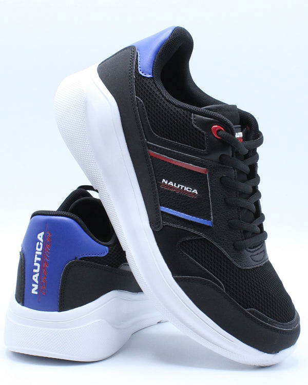 NAUTICA-Men's Parks 2 Multi Lace Up Sneaker - Black-VIM.COM