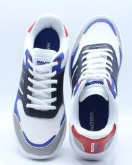 Mens Parks 2 Multi Lace Up Sneaker - White