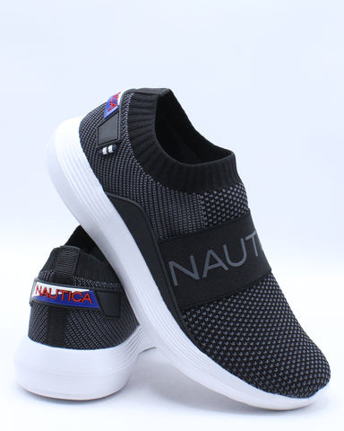 NAUTICA-Men's Crawford Sneaker - Black-VIM.COM