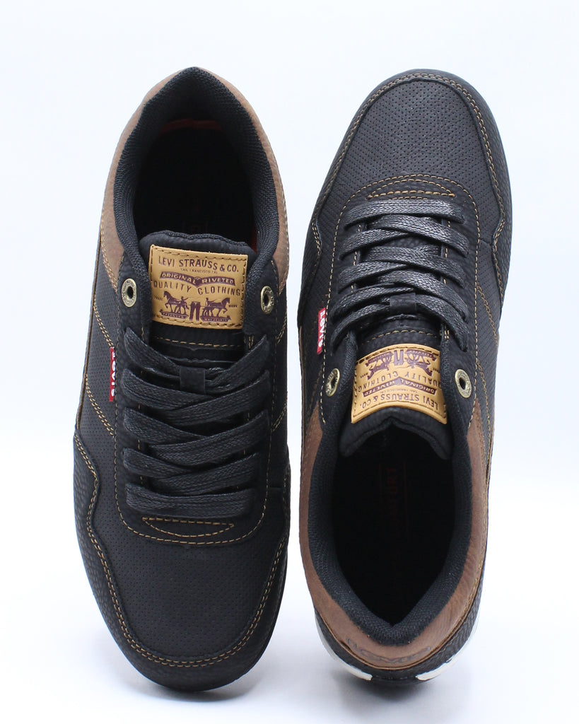 Mens Rio 3 Tumbled Wax Sneaker - Black
