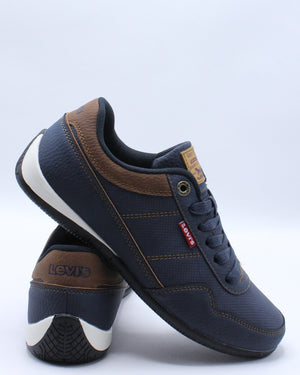 LEVI'S-Men's Rio 3 Tumbled Wax Sneaker - Blue-VIM.COM
