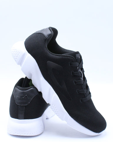 FILA-Men's Zarin Shoe - Black White-VIM.COM