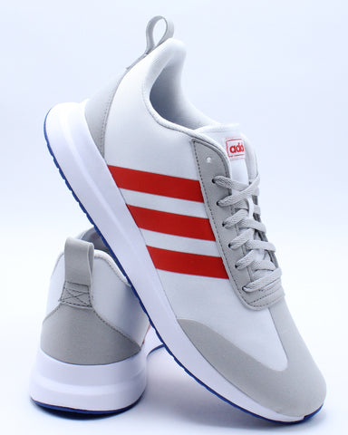 ADIDAS-Men's Run 60 Sneaker - White Red-VIM.COM