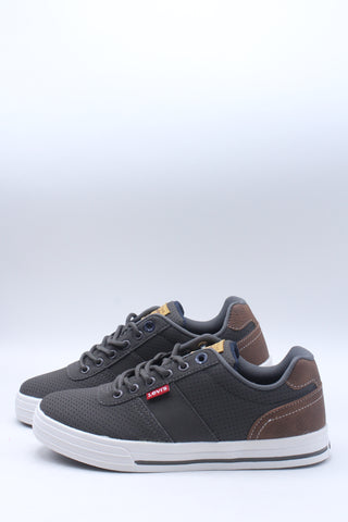 Men's Cupertino Perforated Casual Sneaker - Charcoal Tan