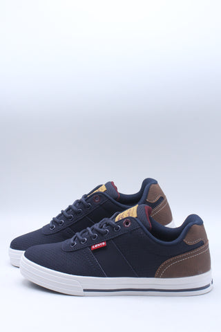 Men's Cupertino Perforated Casual Sneaker - Navy Tan