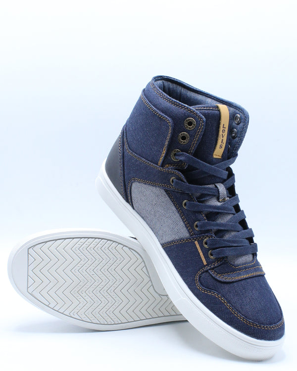 Men's Mason Hi 501 Sneaker - Navy Denim