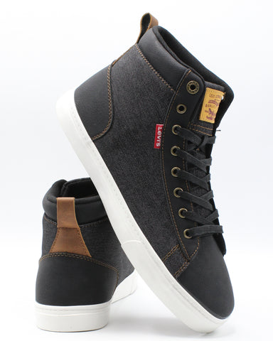 LEVI'S-Men's Galt Denim Wax Sneaker - Black White-VIM.COM