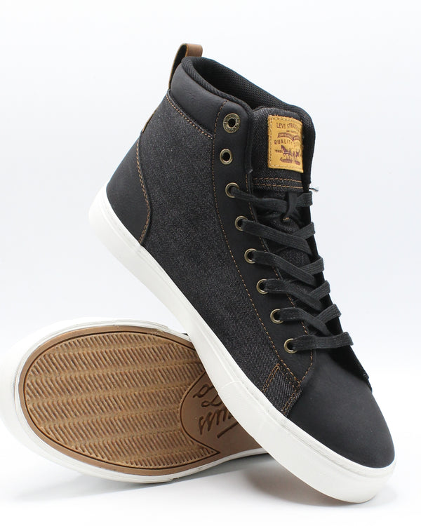 LEVI'S Men'S Galt Denim Wax Sneaker - Black White - Vim.com