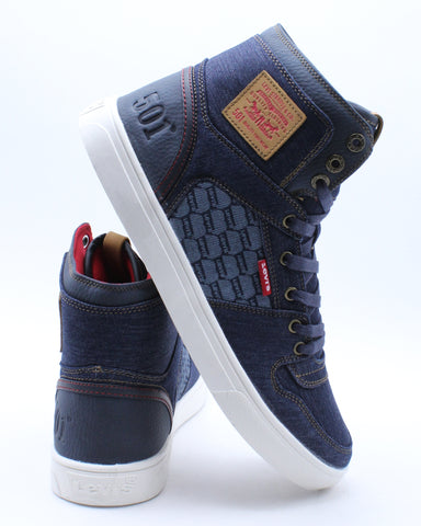 Men's Mason Hi Sneaker - Navy Red
