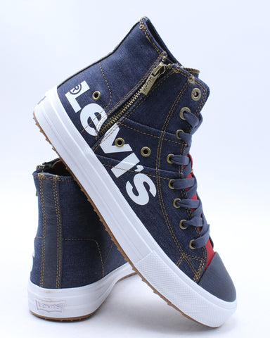 LEVI'S-Men's Zip Ex Mid Anti Sneaker - Navy Red-VIM.COM