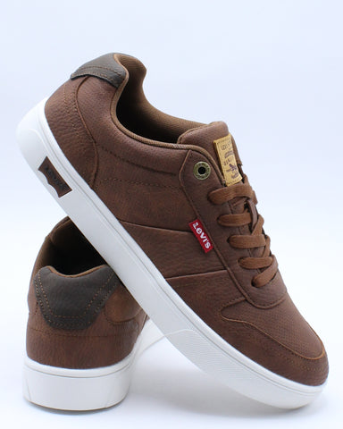 LEVI'S-Men's Alpina Wax Sneaker - Brown-VIM.COM
