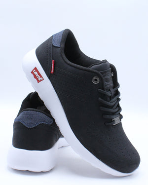 LEVI'S-Men's Suffolk Sneaker - Black White-VIM.COM