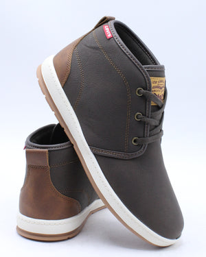 LEVI'S-Men's Ace Waxed Ul Nb Sneaker - Brown Tan-VIM.COM