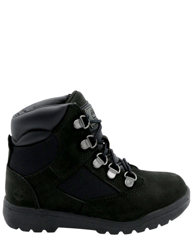 TIMBERLAND-Boys 6-Inch Field Boot (Toddler/Pre School) - Black-VIM.COM
