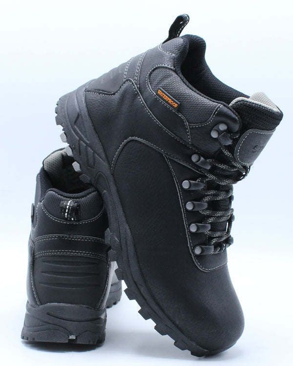 Men's Waterproof Hiker Ankle Boot - Black-VIM.COM