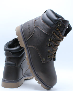 Men's Waterproof 6 Inch Boot - Brown-VIM.COM