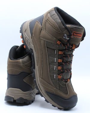 Men's Waterproof Hiker Grip Boot - Brown Orange-VIM.COM