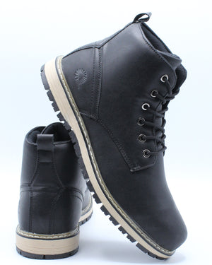 Men's Rugg 01 Chukka Boot - Black-VIM.COM