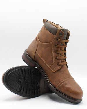 VIM Men'S Blackburn Cap Toe Boot - Tan Brown - Vim.com