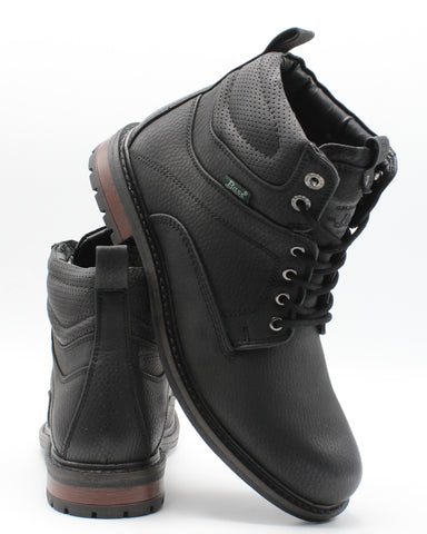 VIM Men'S Crew Plain Toe Boot - Black - Vim.com