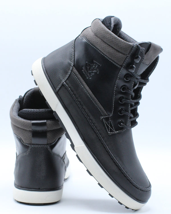 Men's Moc Toe Boot - Black-VIM.COM