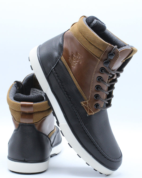 Men's Moc Toe Boot - Black Tan-VIM.COM
