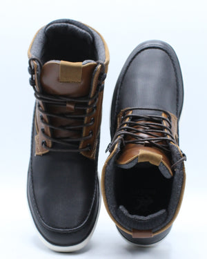 Men's Moc Toe Boot - Black Tan
