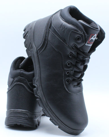 Men's Avalance Smooth Toe Boot - Black-VIM.COM