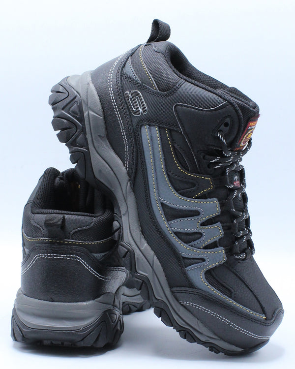 SKECHERS-Men's Rebem Steel Toe Boot - Black Charcoal-VIM.COM