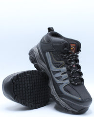 Mens Rebem Steel Toe Boot - Black Charcoal