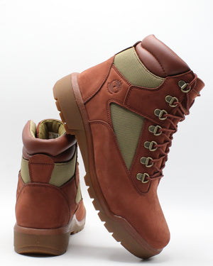 TIMBERLAND-Men's 6 Inch Fabric Leather Sneaker - Rust-VIM.COM