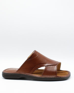 VIM Men'S Open Toe Slide - Brown - Vim.com