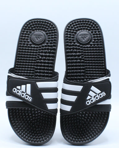 Men's Adisage Slide Sandal - Black White