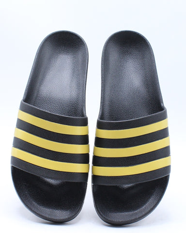 Men's Adilette Aqua Core Slide - Black Gold