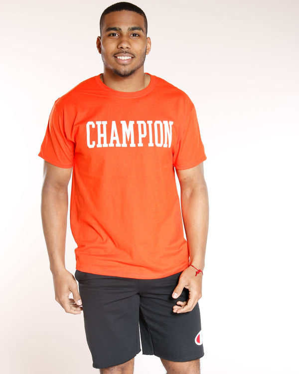 CHAMPION-Men's Champion Classic Graphic Tee - Spicy Orange-VIM.COM