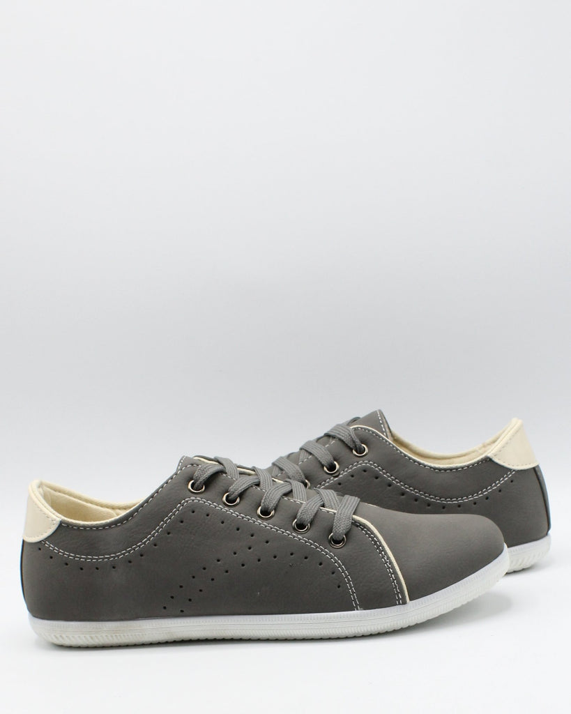 VIM Men'S Lace Up Casual Sneaker - Grey - Vim.com
