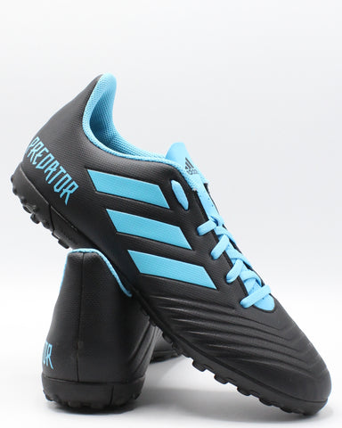 ADIDAS-Men's Predator 19.4 Tf Turf Shoe - Black Cyan-VIM.COM