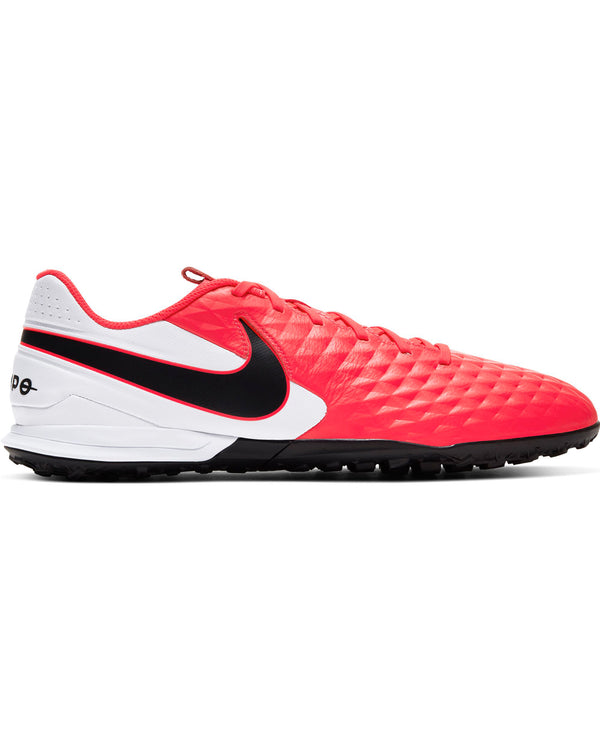 Men's Nike Tiempo Legend 8 Turf Sneaker - Crimson Black White
