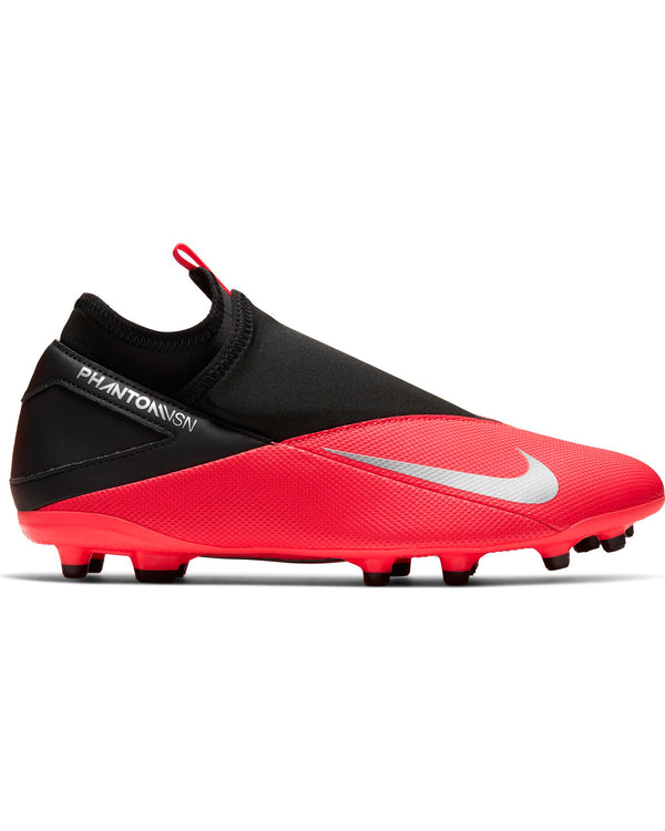 Men's Nike Phantom Vsn 2 Club Df Soccer Shoe - Crimson Black