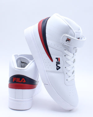 FILA-Men's Vulc 13 Mid Plus Sneaker - White Navy Red-VIM.COM
