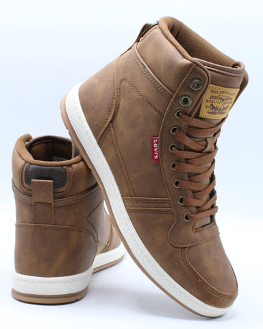 LEVI'S-Men's Stanton Waxed Sneaker - Tan Brown-VIM.COM