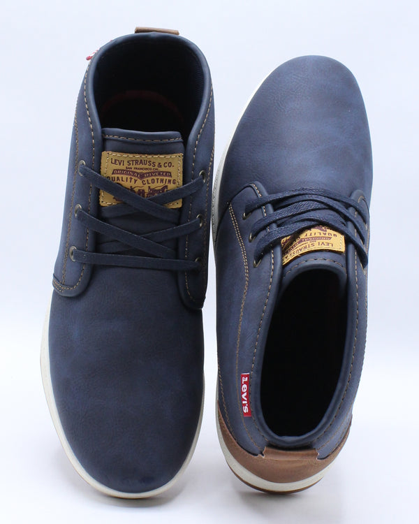 Men's Ace Waxed Mid Sneaker - Navy
