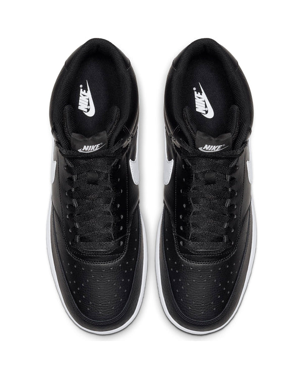 Men's Nike Court Vision Mid Sneaker - Black White