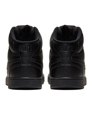 Men's Court Vision Mid Sneaker - Black