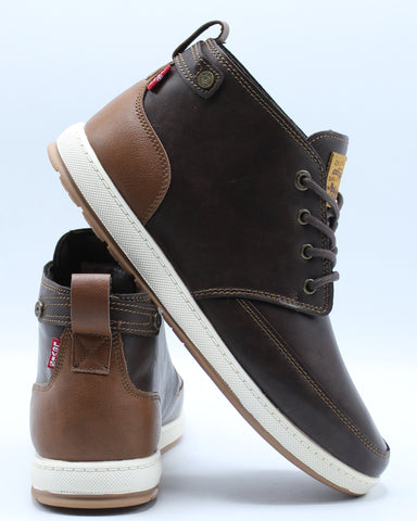 LEVI'S-Men's Atwater Burnish Sneaker - Brown Tan-VIM.COM