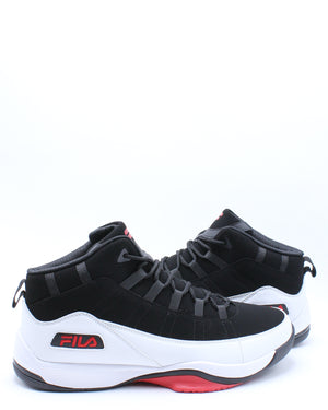Men's Seven Five Sneaker - Black White Red