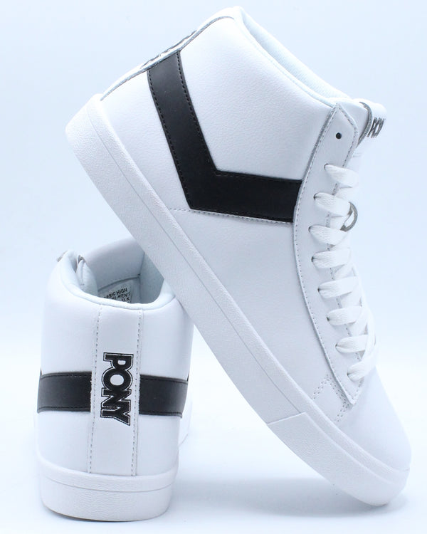 PONY-Men's Classic High Leather Sneaker - White Black-VIM.COM