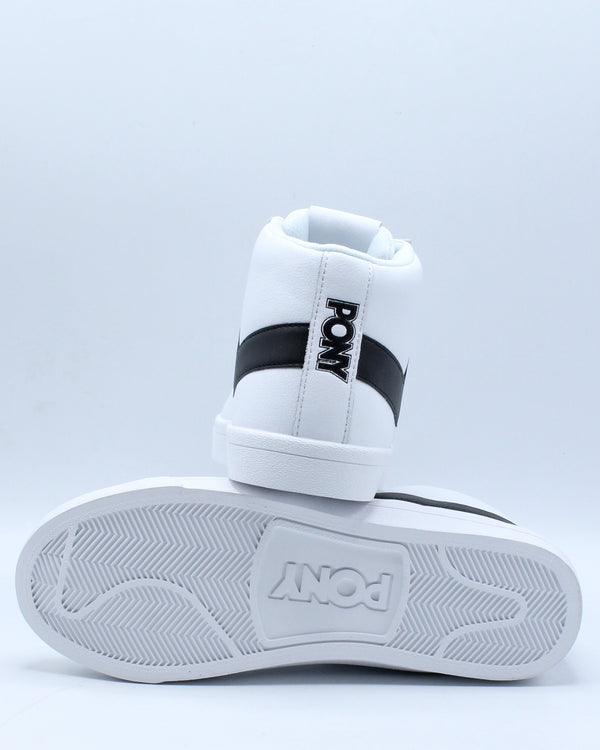 Men's Classic High Leather Sneaker - White Black