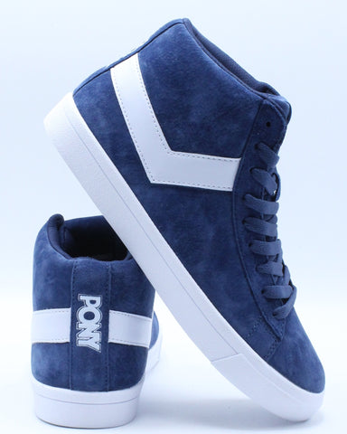 PONY-Men's Classic High Suede Sneaker - Navy White-VIM.COM