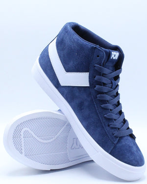Men's Classic High Suede Sneaker - Navy White